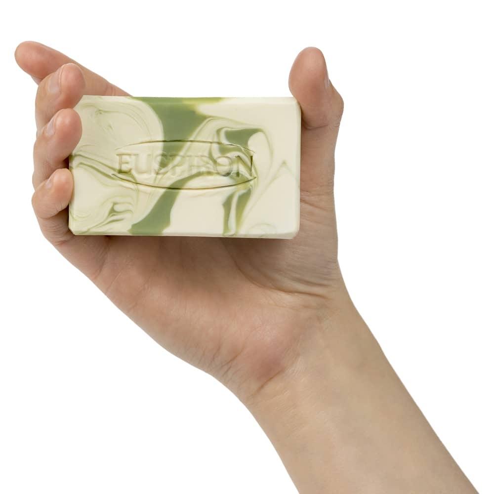 Vertifleur Seife marmoriert handgemacht mit Spirulina